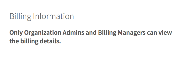 Admin Only Toggle on Billing Page